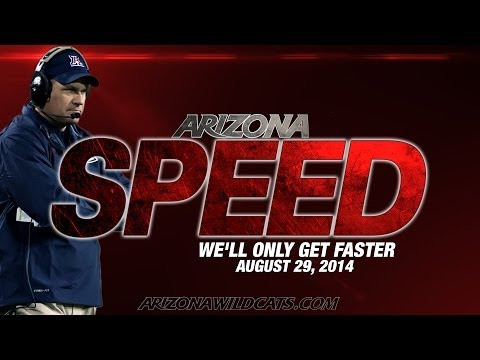speed - Arizona Speed - We'll only get faster. Speed begins at Arizona Stadium for the 2014 Football season on Friday, August 29. Season Tickets: http://tinyurl.com/...