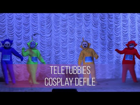Animania 2015 Teletubbies Cosplay Defile