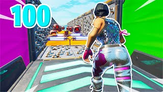 The 100 LEVEL Deathrun that gets harder and harder... [2/3] (Fortnite Creative)