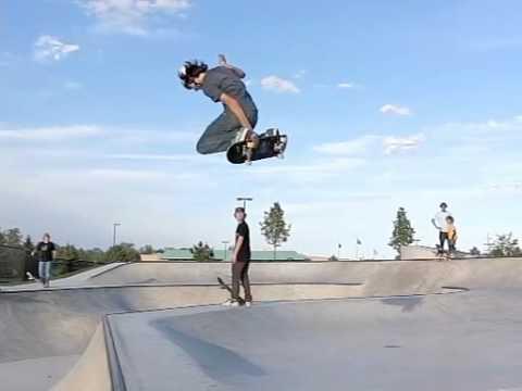 Slow motion skateboarding 12