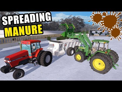 FINALLY!  WE ARE SPREADING MANURE | FARMING SIMULATOR 2017 | EP #23
