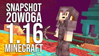 NETHER UPDATE SNAPSHOT 20w06a: Netherite, Ancient Debris, Hoglins, and more!
