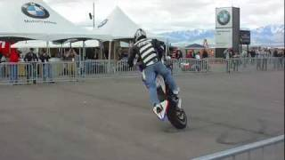 8. BMW F800r Motorcycle Stunting at Miller MotorSports Park Tooele Utah Stoppies 5050s and More