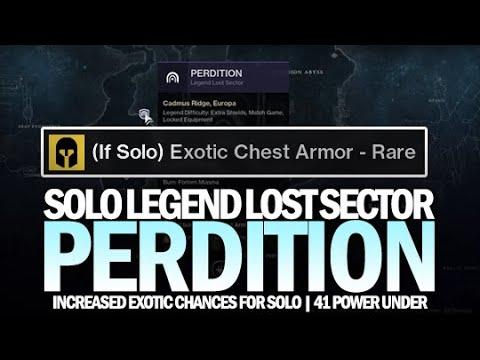 Solo Legend Lost Sector Perdition (Warlock Guide - 41 Power Under) [Destiny 2 Beyond Light]