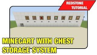 "Minecart With Chest Storage System ""Tutorial"" (Minecraft Xbox/Ps3 TU16)"