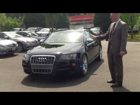 2008 Audi S6 Quattro review + start up – Funny car salesman, worth watching