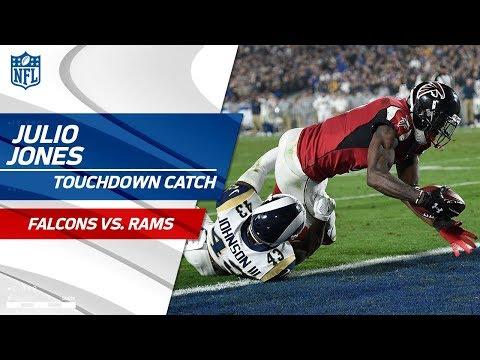 Video: Sanu's Insane Catch-'n-Run Sets Up Julio's TD Grab! | Falcons vs. Rams | NFL Wild Card HLs
