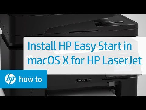 Installing HP Easy Start on HP LaserJet Printers in Mac OS X