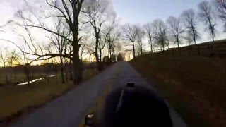 10. Sunset ride on a BMW K1200LT