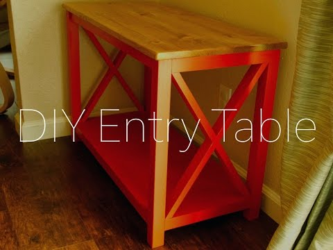 DIY Entry Table by Hosey's Workshop