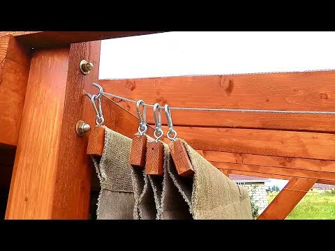 DIY Simple Retractable Canopy for Your Pergola