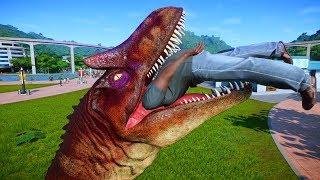 Allosaurus & Suchomimus Breakout & Fight - Jurassic World Evolution Dinosaurs Fighting