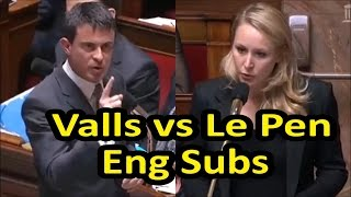 Video Fiery exchange between Marion Maréchal Le Pen and French PM Manuel Valls (English subtitles) MP3, 3GP, MP4, WEBM, AVI, FLV Juni 2017
