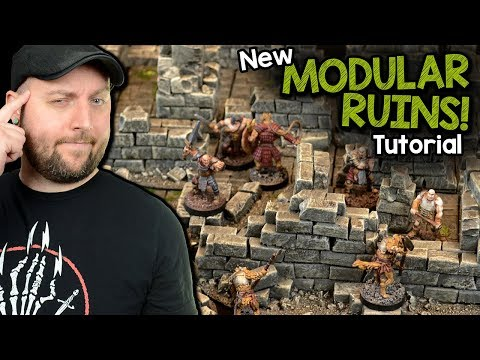Modular Ruins For D&D, Frostgrave, and Wargaming (Black Magic Craft Episode 092)