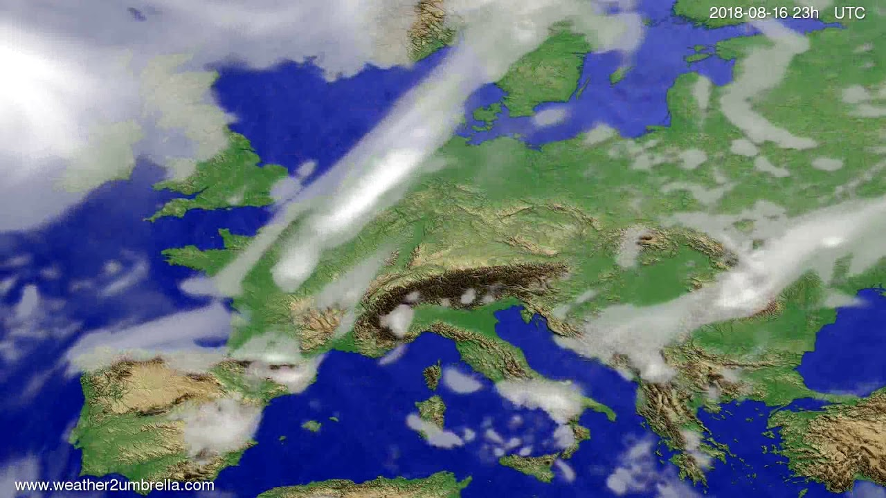 Cloud forecast Europe 2018-08-13