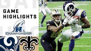 Rams vs. Saints NFC Championship Highlights | NFL 2018 Playoffs