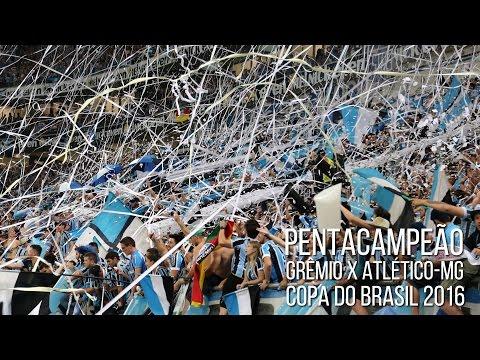 Grêmio 1 x 1 Atlético-MG - Copa do Brasil 2016 Final - RECEBIMENTO - Geral do Grêmio - Grêmio - Brasil - América del Sur