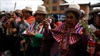 Aymara people pray spirits for rain in drought-hit Bolivia