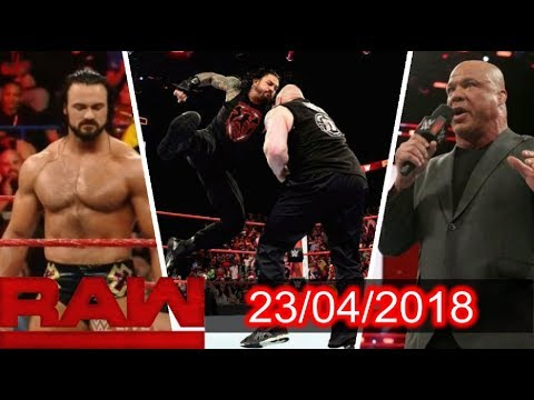 WWE Monday Night Raw 23rd April 2018 Highlights Results & Preview
