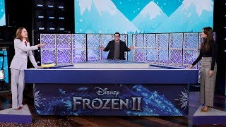 Video Idina Menzel, Josh Gad, & Evan Rachel Wood Play 'What Does the Cast of 'Frozen' Knows-zen?' download in MP3, 3GP, MP4, WEBM, AVI, FLV January 2017