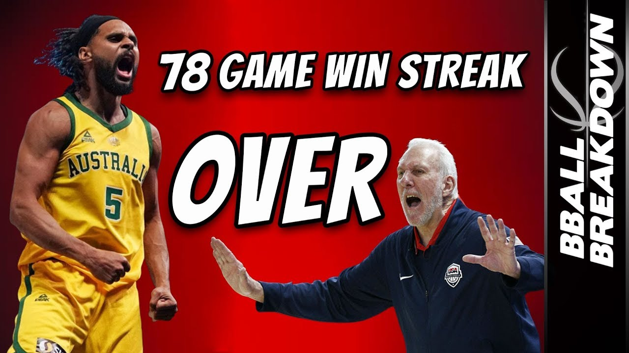 Australia Out Coaches Team USA To Snap 78 Game Winning Streak: GAME HIGHLIGHTS - YouTube