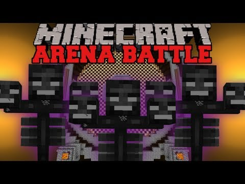 WITHER BOSSES BATTLE - Minecraft Arena Battle
