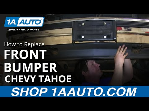 How To Install Replace Bent Rusted Fron Bumper 1989-99 Chevy GMC Pickup K1500
