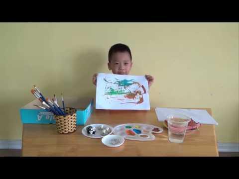Vẽ tranh bằng nam châm - Trường mầm non VSK Thăng Long