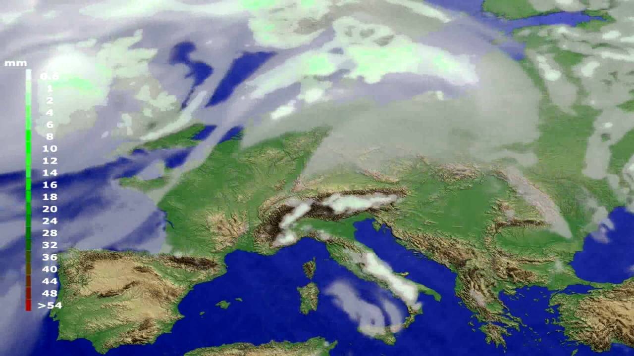 Precipitation forecast Europe 2016-07-07