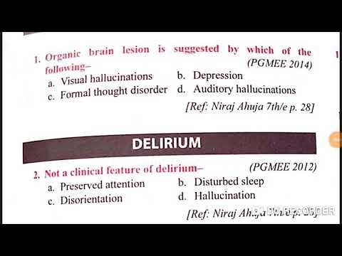 Psychiatry part 2 neet pg 2020 exam mcq