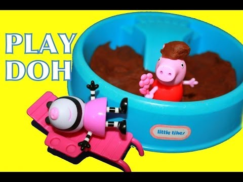 Peppa Pig Playground PLAY-DOH Mud Park Zoe Zebra Little Tikes Toys AllToyCollector