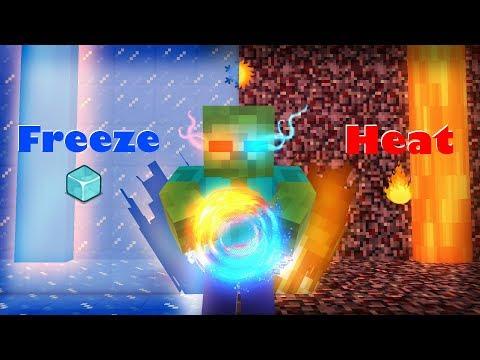 Monster School : FREEZE VS HEAT CHALLENGE - Minecraft Animation