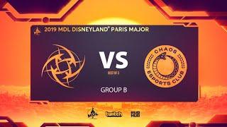 NiP vs Chaos, MDL Disneyland® Paris Major, bo3, game 1 [Jam & Inmate]