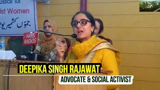 Video DEEPIKA SINGH RAJAWAT FEARLESS  SPEECH AT JAMMU KASHMIR UNITED PEACE MOVEMENT: MP3, 3GP, MP4, WEBM, AVI, FLV Juli 2018