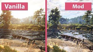 Nonton The Witcher 3     Maximum E3 Graphics Mod Vs  Vanilla Graphics Comparison Film Subtitle Indonesia Streaming Movie Download