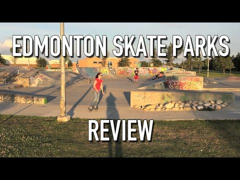 Wiping out in Edmonton skate parks: Review Video