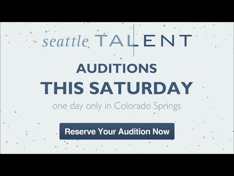 Audition for Seattle Talent in Colorado Springs This Saturday (видео)