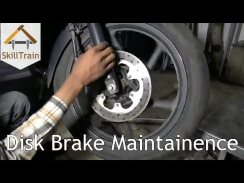 Disc Brake Maintenance of a Two-Wheeler (Hindi) (हिन्दी)