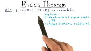Rice's Theorem - Georgia Tech - Computability, Complexity, Theory: Computability