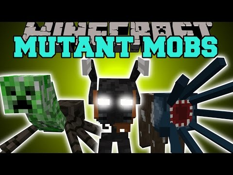 Minecraft: MUTANT MOBS (INSANE NEW BOSS & FUNNY MOBS WITH SPECIAL ABILITIES!) Mod Showcase