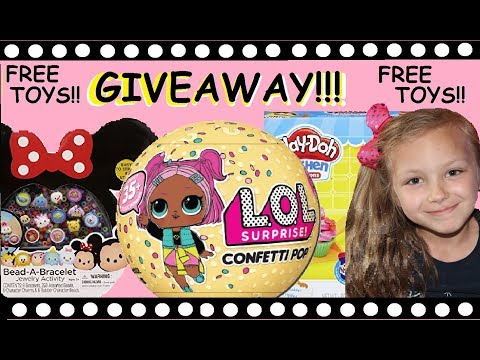 FREE TOY GIVEAWAY!!!! LOL Surprise ball, Disney, Play doh! Mac 5 family!