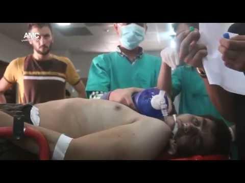 بالفيديو : النظام السوري الإرهابي يستخدم غاز الكلور السام #سوريا