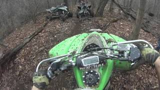 6. Trx700 and Kfx450 Pull out polaris RZR stuck in mud