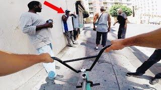 Video RIDING BMX IN LA COMPTON GANG ZONES 2 (CRIPS & BLOODS) MP3, 3GP, MP4, WEBM, AVI, FLV Agustus 2018