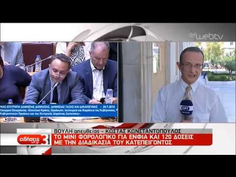 Στη Βουλή τα πρώτα νομοσχέδια |29/07/2019 | ΕΡΤ