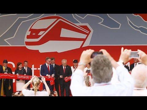 Ελβετία: Κατασκευαστικό «θαύμα» η σιδηροδρομική σήραγγα Γκοντάρντ