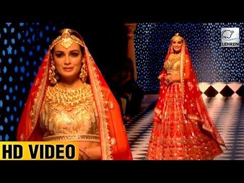 Dia Mirza's Royal Look At IIJW 2017