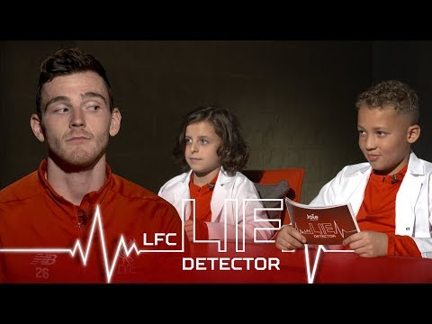 Video: Home Alone pyjamas and singing Sweet Caroline | Andy Robertson takes the Kop Kids Lie Detector Test