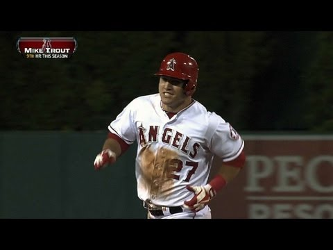 trouts - 5/21/13: Mike Trout drills a solo home run to deep center, extending the Angels' lead and giving him the cycle for the ballgame Check out http://MLB.com/vide...
