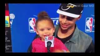 Video Steph Curry's Daughter Riley Rapping Drake Blessings MP3, 3GP, MP4, WEBM, AVI, FLV Agustus 2018